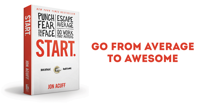 Start. by Jon Acuff is a great resource for college seniors to help them overcome fear as they get ready to graduate.